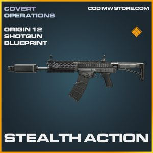Stealth Action Origin 12 shotgun skin legendary blueprint call of duty modern warfare warzone item