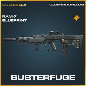 Subterfuge RAM-7 skin legendary blueprint call of duty modern warfare warzone item