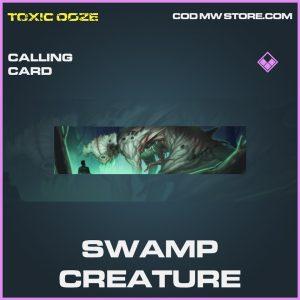 Swamp Creature calling card epic call of duty modern warfare warzone item