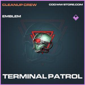 Terminal Patrol emblem epic call of duty modern warfare warzone item