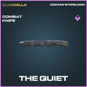 The Quiet combat knife epic call of duty modern warfare warzone item