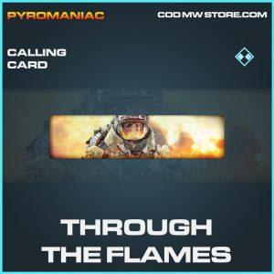 Through the flames calling card rare call of duty modern warfare warzone item