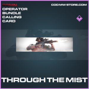Throught the mist calling card epic call of duty modern warfare warzone item