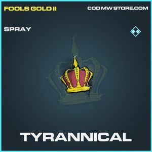 Tyrannical spray rare call of duty modern warfare warzone item