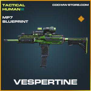 Verspertine mp7 skin legendary blueprint call of duty modern warfare warzone item
