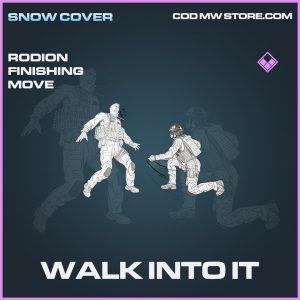 Walk into it rodion finishing move epic call of duty modern warfare warzone item