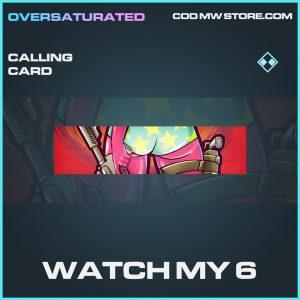 Watch my 6 rare calling card call of duty modern warfare warzone item