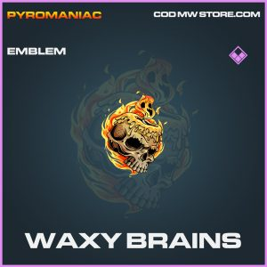 Waxy Brains emblem epic call of duty modern warfare warzone item
