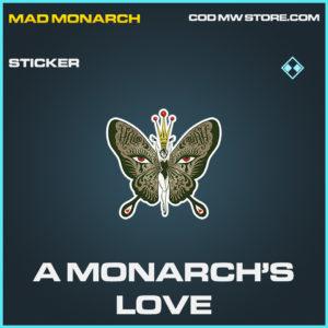 A Monarch's Love rare sticker call of duty modern warfare warzone item