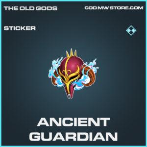 Ancient Guardian sticker rare call of duty modern warfare warzone item