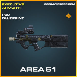 Area 51 P90 skin legendary blueprint call of duty modern warfare warzone item