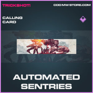 Automated Sentries calling card epic call of duty modern warfare warzone item