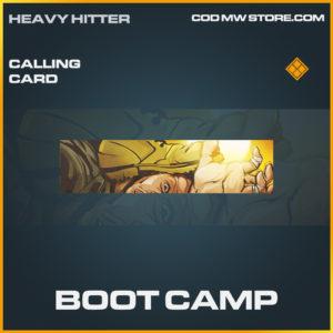 Boot Camp calling card legnedary call of duty modern warfare warzone item