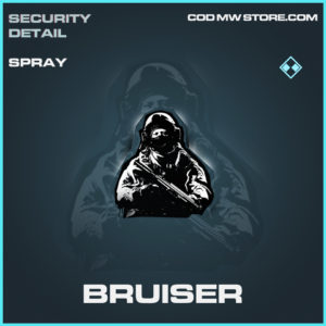 Bruiser spray rare call of duty modern warfare warzone item