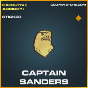 Captain Sanders legendary sticker call of duty modern warfare warzone item