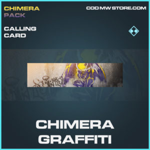 Chimera Graffiti calling card rare call of duty modern warfare warzone item