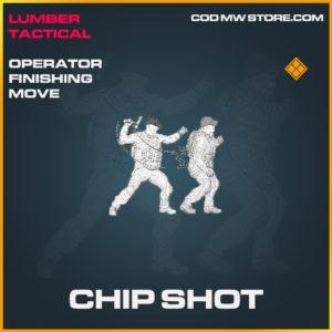 Chip Shot operator finishing move legendary call of duty modern warfare warzone item