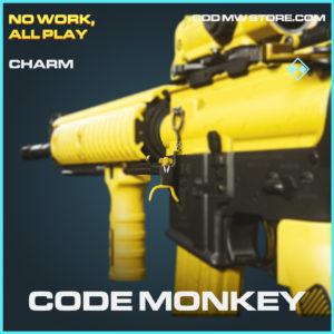 Code Monkey rare charm call of duty modern warfare warzone item