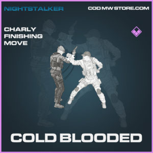 Cold Blooded charly finishing move epic call of duty modern warfare warzone item