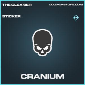 Cranium sticker rare call of duty modern warfare warzone item