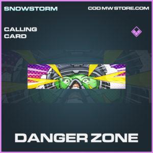 Danger zone calling card epic call of duty modern warfare warzone item