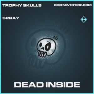 Dead inside spray rare call of duty modern warfare warzone item