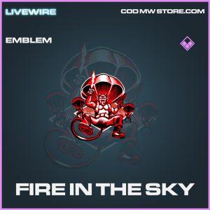 Fire in the sky emblem epic call of duty modern warfare warzone item