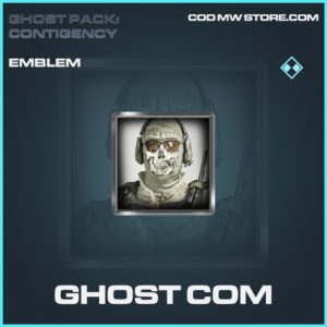 Ghost Com emblem rare call of duty modern warfare warzone item
