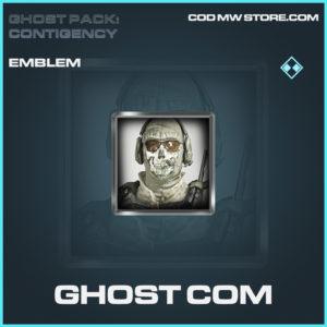 Ghost Com emblem rare call of duty modern warfare warzone item