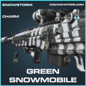 Green Snowmobile charm rare call of duty modern warfare warzone item