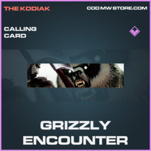 Grizzly Encounter calling card epic call of duty modern warfare warzone item