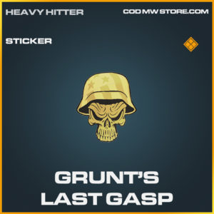 Grunt's Grunts Last Gasp sticker legendary call of duty modern warfare warzone item