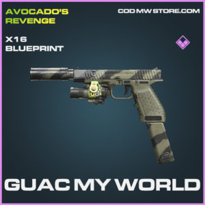 Guac my world X16 skin epic blueprint call of duty modern warfare warzone item