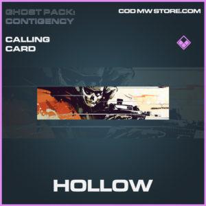 Hollow calling card epic call of duty modern warfare warzone item