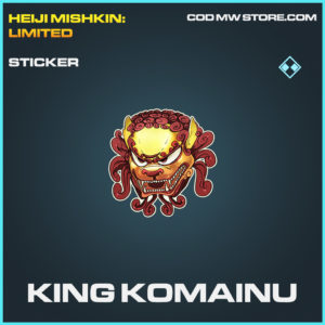 King Komainu sticker rare call of duty modern warfare warzone item