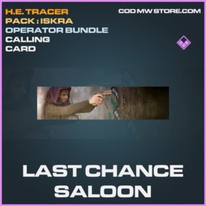 Last Chance Saloon calling cardd epic call of duty modern warfare warzone item