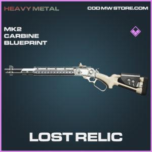 Lost Relic MK2 Carbine blueprint epic call of duty modern warfare warzone item