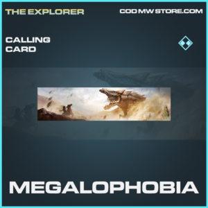 Megalophobia calling card rare call of duty modern warfare warzone item