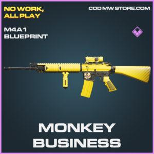 Monkey Business M4A1 epic blueprint call of duty modern warfare warzone item