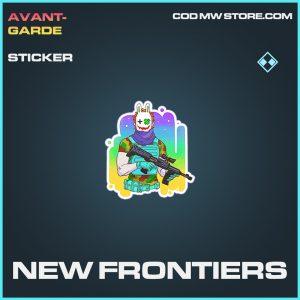 New Frontiers sticker rare call of duty modern warfare warzone item joker