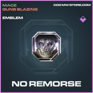 No Remorse emblem epic call of duty modern warfare warzone item