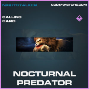 Nocturnal Predator calling card epic call of duty modern warfare warzone item