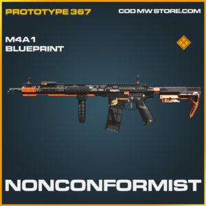 Nonconformist M4A1 skin legendary blueprint call of duty modern warfare warzone item