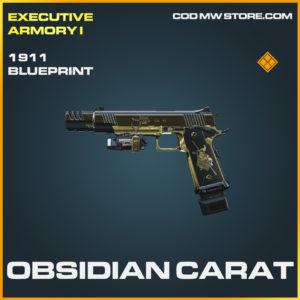 Obsidian Carat 1911 skin legendary skin call of duty modern warfare warzone item