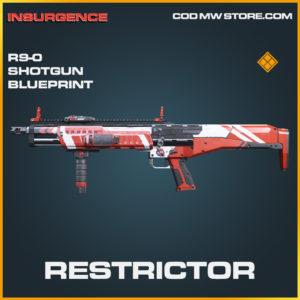 Restrictor R9-0 shotgun blueprint legendary skin call of duty modern warfare warzone item