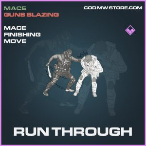 Run Through mace finishing move epic call of duty modern warfare warzone item