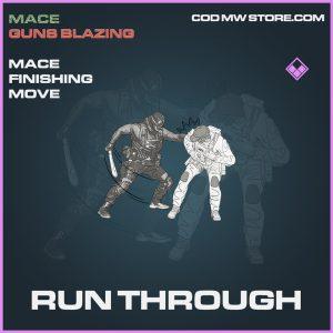 Run Through mace finishing move epic call of duty modern warfare warzone item