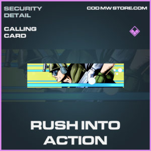 Rush Into Action calling card epic call of duty modern warfare warzone item