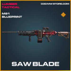 Saw Blade M91 skin legendary blueprint call of duty modern warfare warzone item