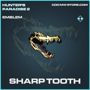 Sharp Tooth emblem rare call of duty modern warfare warzone item